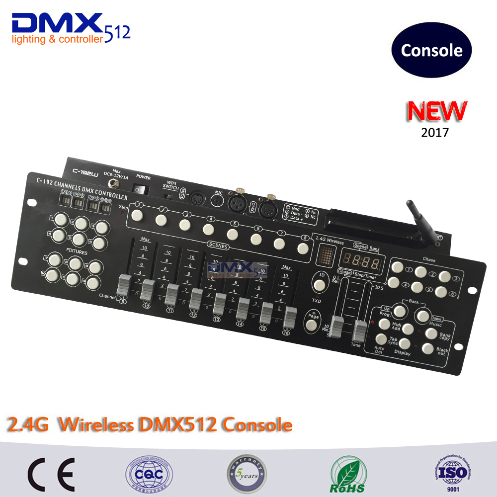 DHL Free shipping 2.4G Wireless DMX controller 192CH DMX console for dj lighting and stage lighting free shipping dmx 192 controller cheap