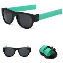 Plegable Plegable Gafas de Sol Cool Veces SlapSee Sunnies Shades Oculos Polarizado Gafas de Sol Polarizadas Gafas Para Mujer Para Hombre de Moda