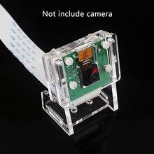 Estojo acrílico transparente para câmera, proteção de revestimento e suporte para câmera 2 em 1 raspberry pi 3b só caso