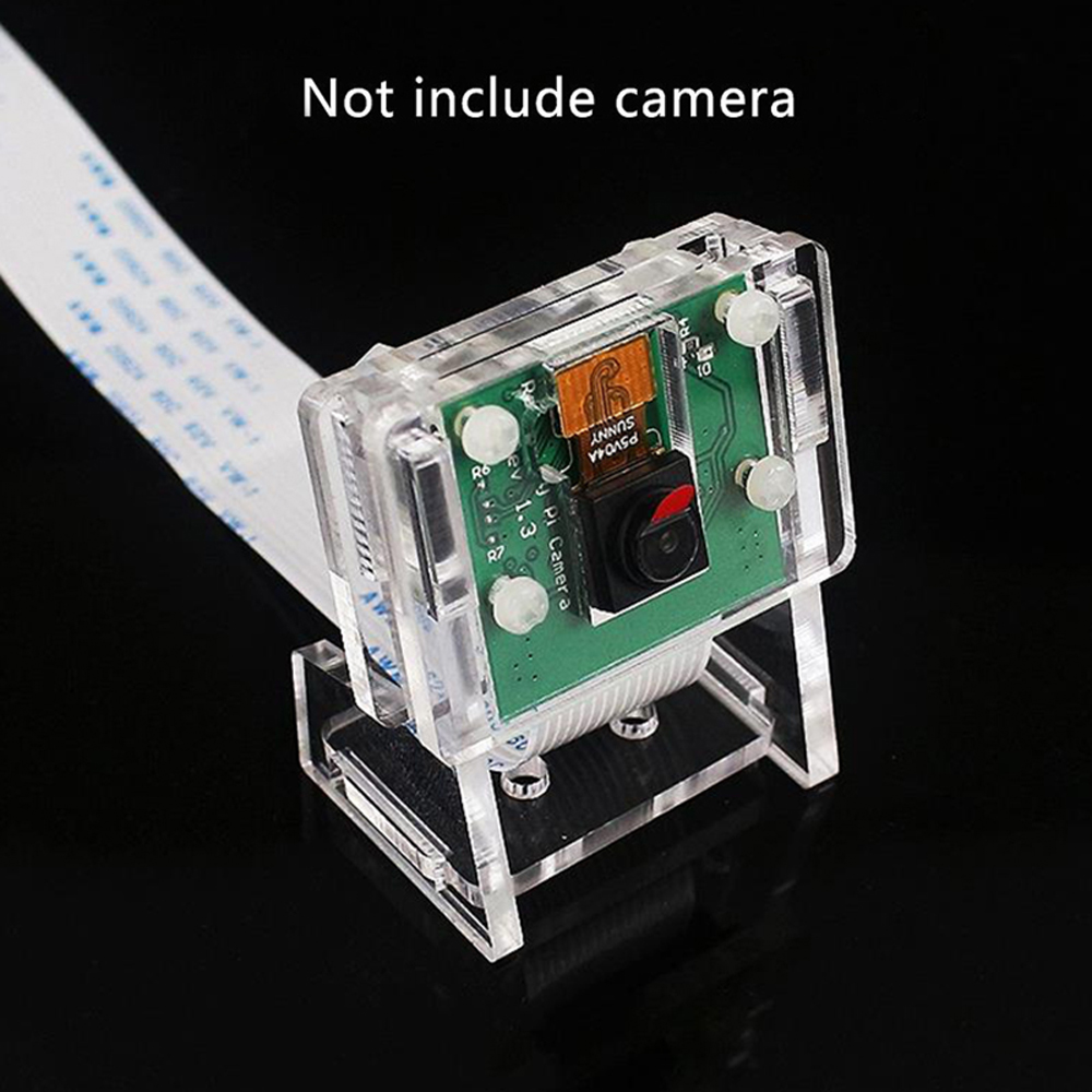 Raspberry Pi 3b+ Camera Case/Camera Module Bracket,Protective Shell and Bracket 2in1 Acrylic Transparent Shell-in Demo Board from Computer & Office
