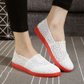 2016 New Flat Shoes Summer Sandals Hollow Breathable Mesh Casual Round Flat Shoes Car Lazy Shoes Women Shoes Mesh
