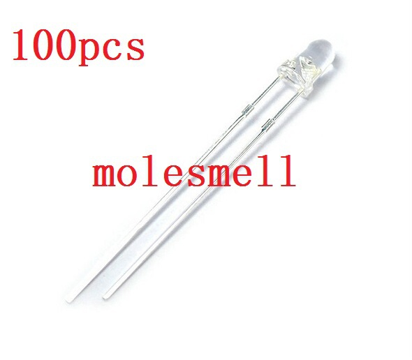 500pcs 3mm Transparent Ir Led 3mm Transparent Infrared 940nm 940 Nm Led Light Emitting Diode Lamp Water Clear Bulb Electronic Components & Supplies