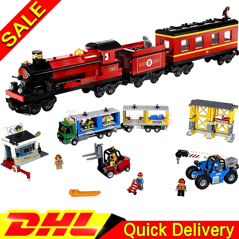 Lepin 16031 The Hogwarts Express Lepin 02082 The Cargo Terminal Building Blocks Bricks Educational legoings Toys Gift 4841 60169 lepin 02082 new 829pcs city series the cargo terminal set diy toys 60169 building blocks bricks children educational gifts model