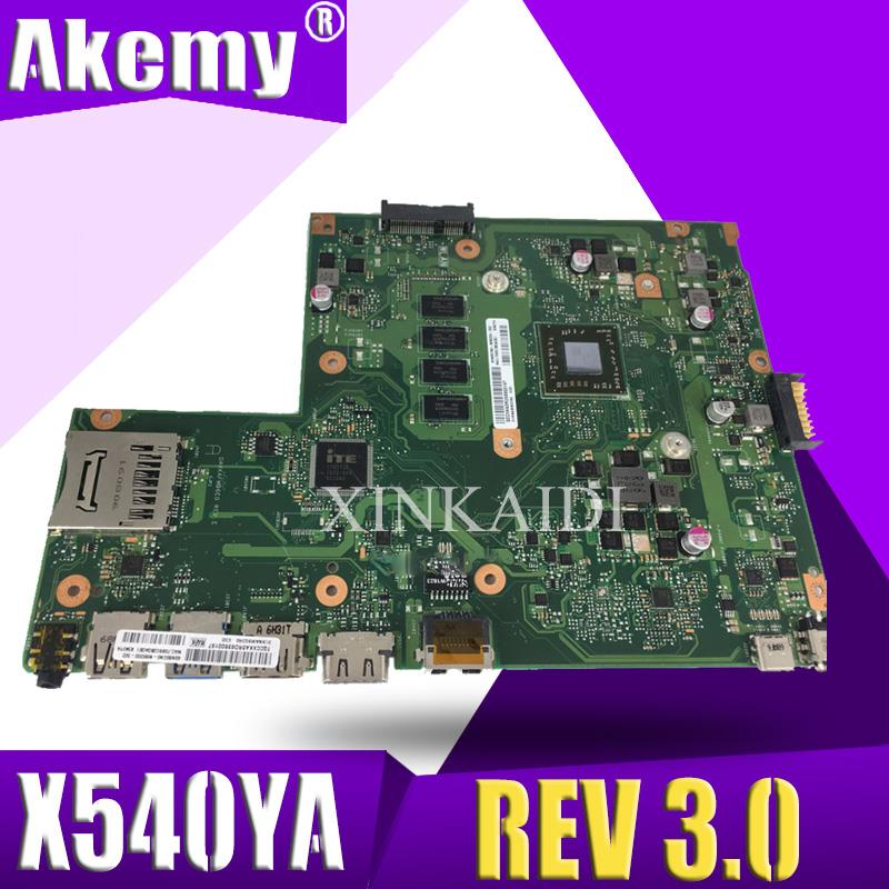 For ASUS X540YA Laptop Motherboard Integrated GM X540YA Main Board REV 3.0 100% Teste