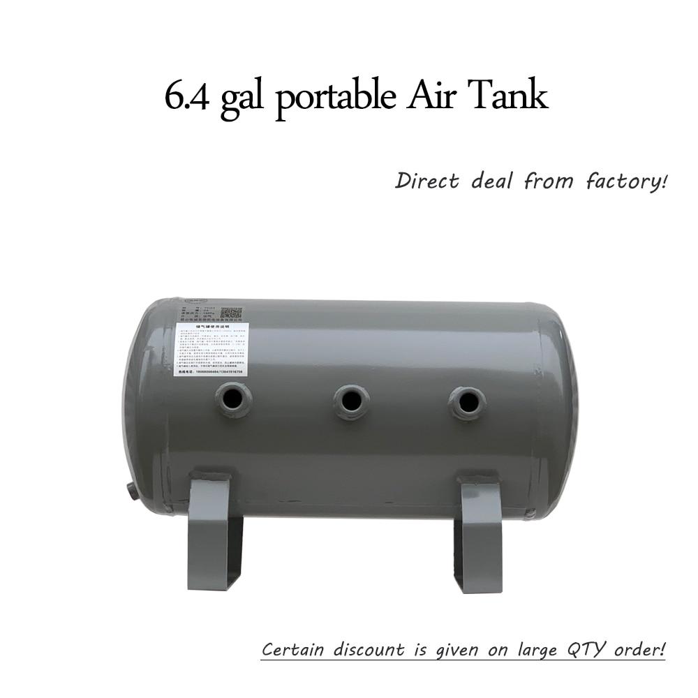 6.4 gal Grey Vacuum Carbon Steel Air Gas Storage Tank Cylinder for Air Compressor  model A6.4 gal Grey Vacuum Carbon Steel Air Gas Storage Tank Cylinder for Air Compressor  model A