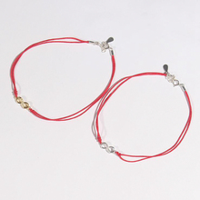 Ruifan Couple Bracelet 925 Sterling Silver for Women Mens Lucky Charm Red Thread Handmade Bangle Amulet Jewelry YBR020