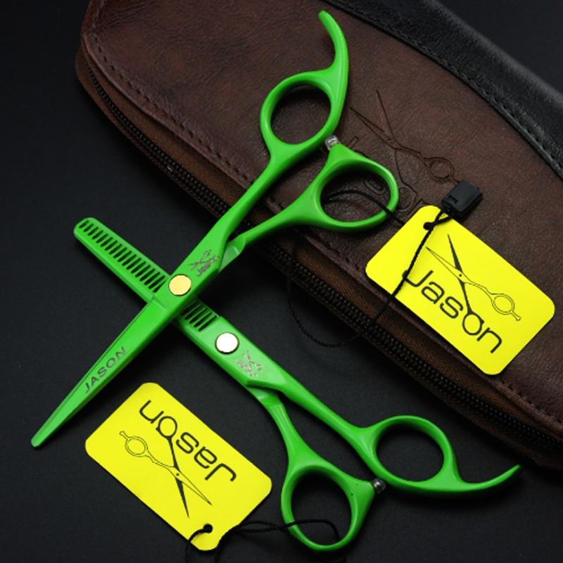 4 kleuren salon haar schaar set kappersscharen professionele 5.5 inch dunner & snijden van hoge kwaliteit