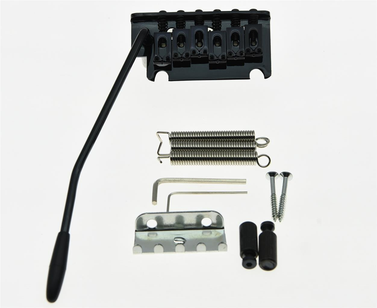 Black 2 Point ST Strat Style Guitar Tremolo Bridge Locking System After market Guitar Bridge