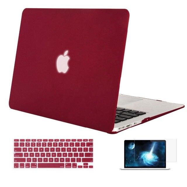 Mosiso для Macbook Air 13 13.3 дюймовый цветной Ноутбук Жесткий Чехол Обложка + Крышка Клавиатура + Экран протектор