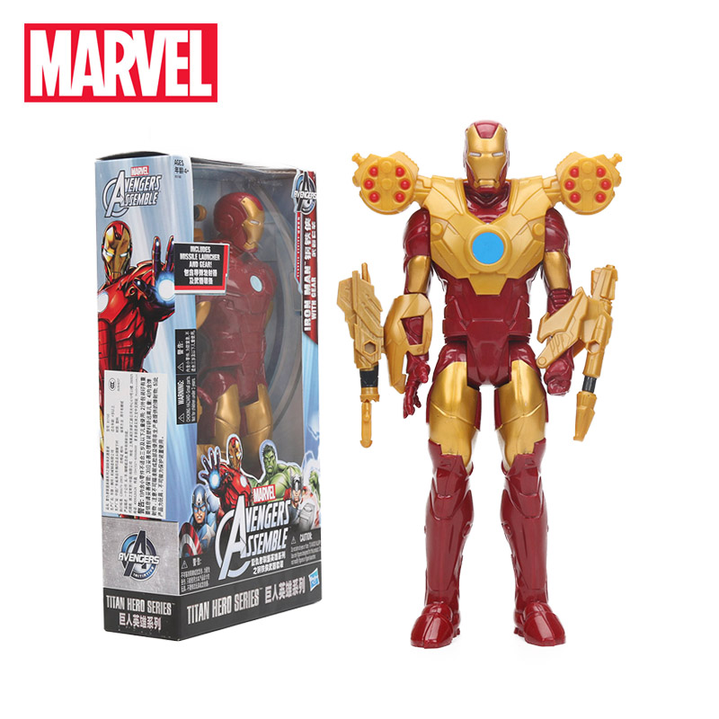 Marvel Toys the Avengers Infinite War Iron Man with Gear Combat Pack Figure Titan Hero Series Collectible Model Dolls Toy