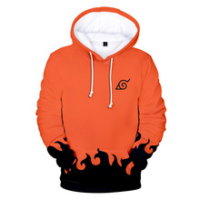 Fashion Sweatshirts Men Cartoon Naruto Hoodies Jacket Women Orange Black 3D Hoodie Naruto Cosplay Costume Coat