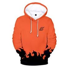 Sudaderas de moda de los hombres de dibujos animados Naruto Hoodies chaqueta mujer naranja negro 3D Hoodie Naruto Cosplay traje abrigo