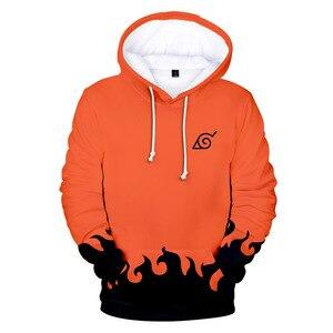 Image 1 - Sudaderas de moda de los hombres de dibujos animados Naruto Hoodies chaqueta mujer naranja negro 3D Hoodie Naruto Cosplay traje abrigo