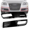 Para 2008-2010 Audi A8 D3 Negro Frontal Inferior Del Parachoques Parrilla Rejilla de Par de Conducción Con Cromo