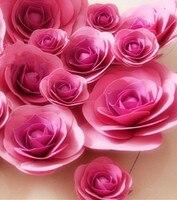 Large Wedding Flowers Background Wall Window Display Props Dance Studio Equipment Stereo Foam Flower Rose