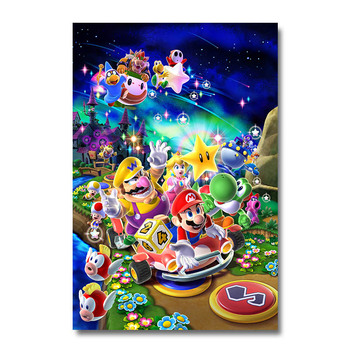 Плакат гобелен Супер Марио Galaxy 2 Шелк вариант 2