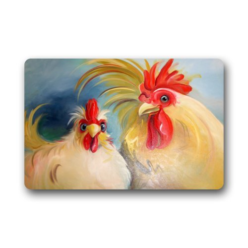 Genial Funny Hen Rooster Couple Chicken Art Doormats Entrance Mat Floor Mat Door  Mat Rug Bathroom Mats Rubber Non Slip In Mat From Home U0026 Garden On  Aliexpress.com ...