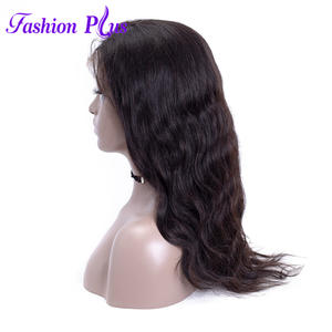 Wigs Human-Hair Full-Lace with 10-28''pre Plucked for Black-Women 180%Density