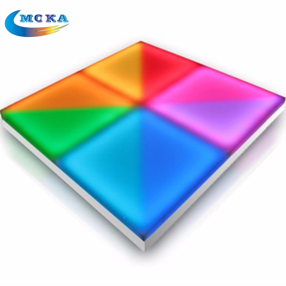 16Sqare meters/lot 1M*1M Led Dance Floor led lighting wedding floor DMX 512 RGB Full Color Acrylic Plexiglass Dance Panel 48 square meters led matrix dance floor professional sound led dance floor light dj party dance floor