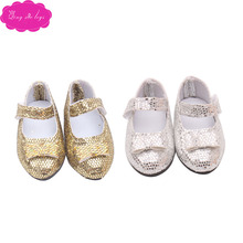 Doll shoes fashionable shiny pointed 2 color dress fit 16 inch Girl dolls and 14.5-inch doll accessories r28