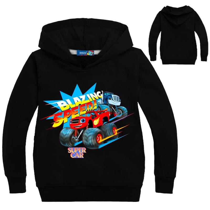 Kids New Children Kids Boy Girl sweater Boys Coat Monster Machine Kids Boys Blazing Speed Cartoon Sweat