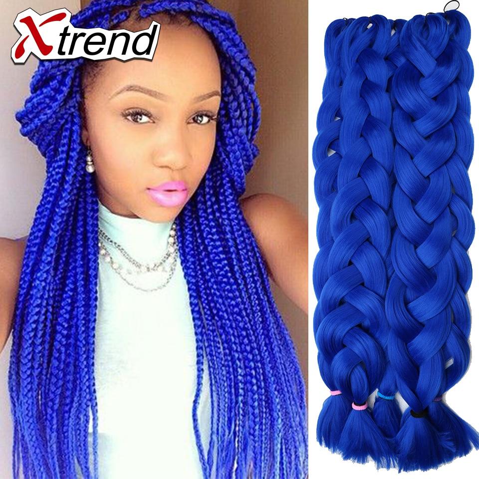 42 Purple And Blue Braiding Hair Braids Synthetic Extensions Blond Kanekalon Jumbo Bundles On Aliexpress Alibaba Group