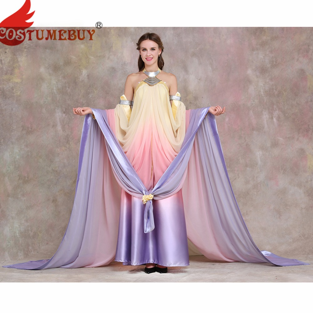 Costumebuy Star Wars costume Revenge of the Sith Padme Amidala lake dress Star Wars Padme Amidala costume cosplay custom made