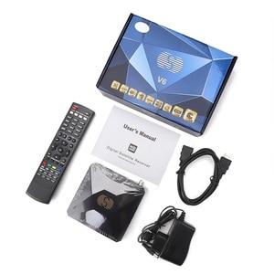 Image 5 - S V6 TV Box DVB S2 Receptor Satelite Digital Satellite Receiver Support Xtream NOVA 2xUSB WEB TV 3G Biss Key DVB S2 Decoder V6S