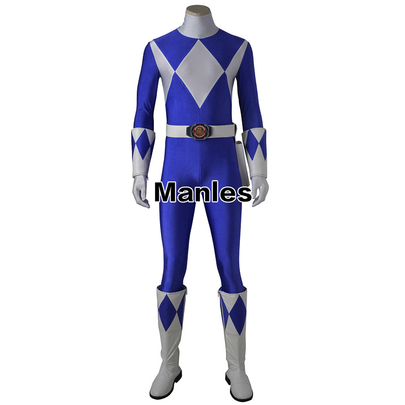 Costume For Dan Tricera Ranger Bodysuit Zyuranger Cosplay Onesies Blue Jumpsuit Halloween Carnival Clothes Cosplay Adult Men