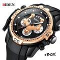 BIDEN мужские часы Топ бренд Роскошные спортивные военные кварцевые часы водонепроницаемые Дата хронограф наручные часы мужские Relogio Masculino