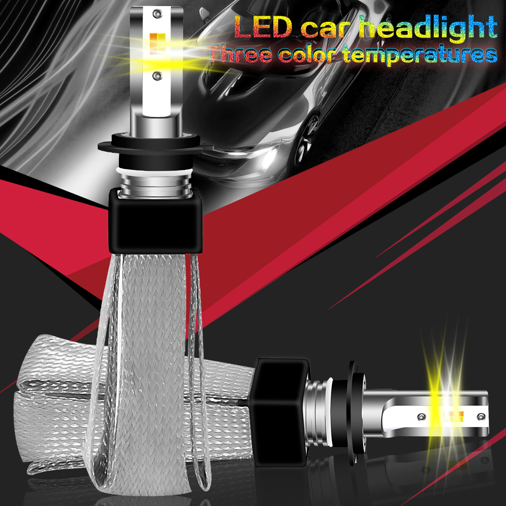 1 Pairs Super Bright Car <font><b>LED</b></font> <font><b>Headlight</b></font> Kit H7 H11 9005 9006 H1 <font><b>H4</b></font> <font><b>200W</b></font> 80000LM Bright <font><b>LED</b></font> <font><b>Bulbs</b></font> Lamp 6000K image