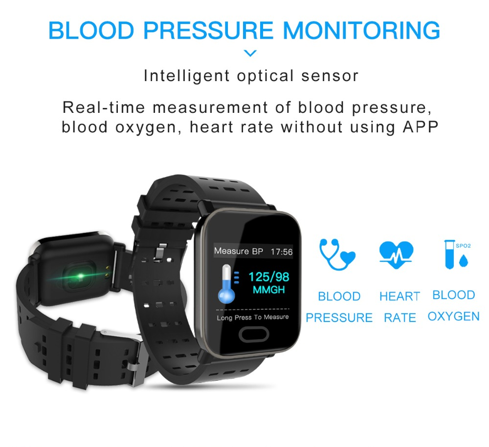 Q6 Smartwatch IP67 Waterproof Wearable Device Bluetooth Pedometer Heart Rate Monitor Color Display Smart Watch For AndroidIOS (4)