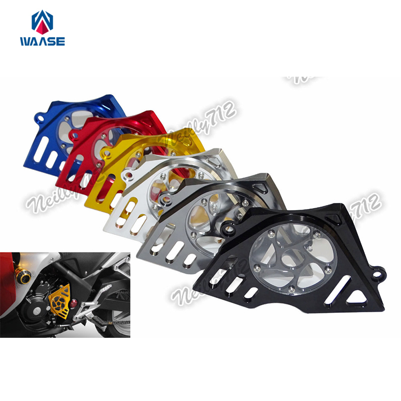 Motorcycle CNC Aluminum Front Sprocket Chain Guard Cover Left Side Engine For Honda CBR250R CBR 250R 2011 2012 2013 2014 bjmoto cnc aluminum motorbike accessaries motorcycle engine guard cover pad for kawasaki z1000 r 2010 2011 2012
