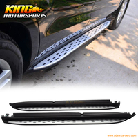 For 13 16 Benz Gl X166 OE Running Board With LED Light Lamp Side Steps Nerf Bar