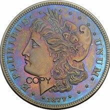 Соединенные Штаты Америки эффектные 1877 50C Morgan половина доллара латунные посеребренные копии монет