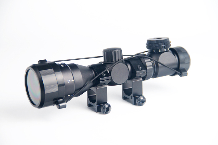 2-6x32 AOE Illuminated Scope Red Green Mil-dot Sight Rifle Scope 20mm Rail Mounts Airsoft Optical Scope For Hunting HT6-0024