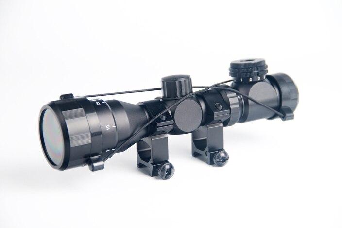 2 6x32 aoe iluminado escopo verde vermelho mil ponto vista rifle escopo 20mm ferroviario monta airsoft