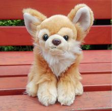 Simulation  Butterfly dogs Doll Plush  Animals Kids Toys  Girls Cute Brown Dog Dolls Toy Gift very beautiful