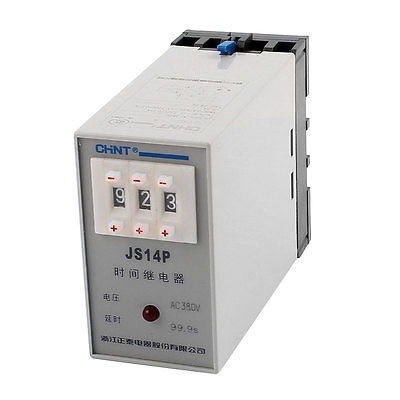 AC 380V 0.1-99.9s Two Adjustment Power On Delay Timer Digital Display Time Relay JS14P 5 pieces h3y 2 power on time delay relay solid state timer max 30m 220vac dpdt