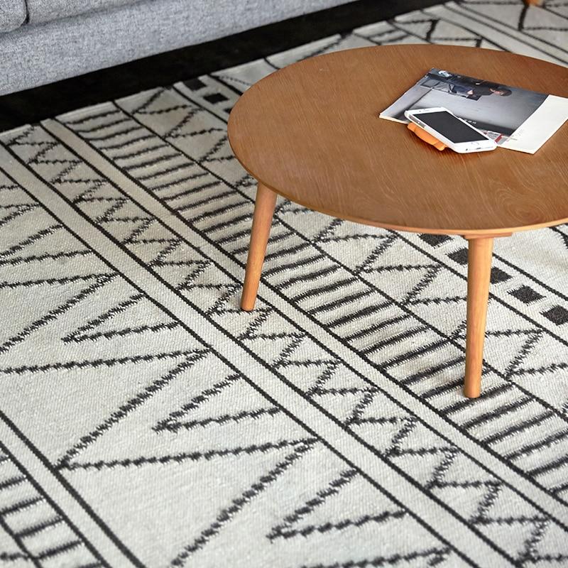 100 Wool Kilim Carpet Geometric Bohemia Indian Rug Plaid