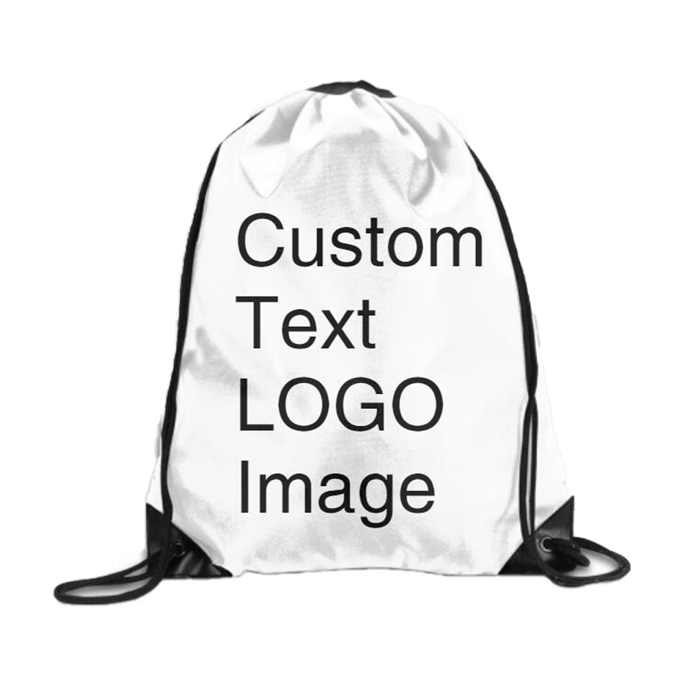 Custom Sports Drawstring Bags String Pull Rope Backpacks Custom Your Own Bag Print Text/ LOGO/ Text