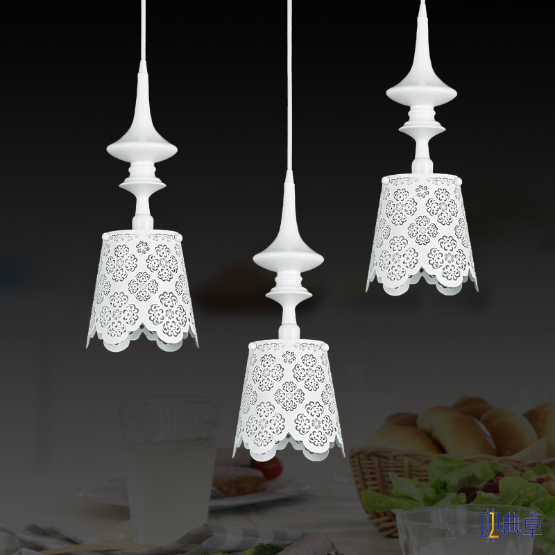 Simple fashion garden engraved hollow LED romantic art Pendant Lights living room bedroom restaurant bar iron lamp flower a1 master bedroom living room lamp crystal pendant lights dining room lamp european style dual use fashion pendant lamps