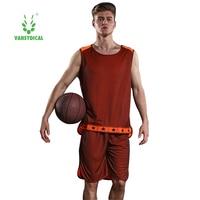 Vansydical New Men Basketball Jersey Sets Uniforms Adult Sports clothing Breathable basketball jerseys shirts shorts