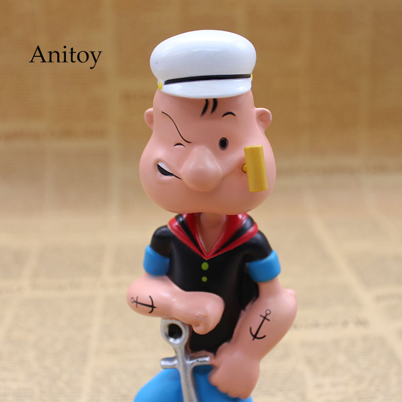 Image 3 - Popeye The Sailor Man Wacky Wobbler Bobble Head PVC Action Figure Collection Toy Doll 17CM with Retail BoxAction & Toy Figures   -