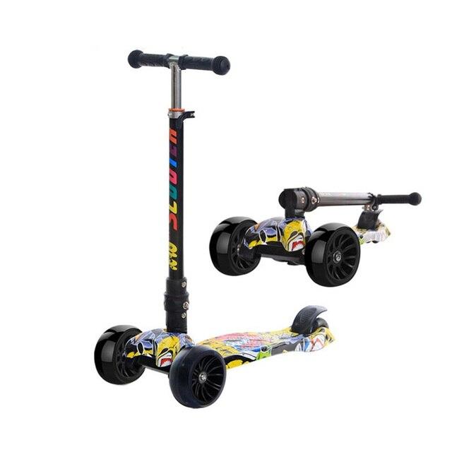 Велосипеды скутер подарок для детей весело упражнения игрушечный самокат дети Kick Scooter