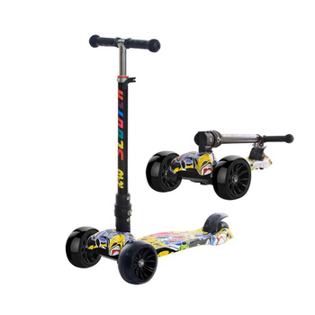 Kids Foldable Kick Scooter for Fun Exercise with Adjustable Seat