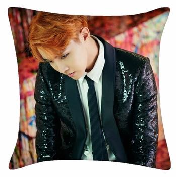 New Kpop BTS Bangtan Boys JHOPE The Same Sofa soft bolster car waist pad cushions double pillow 40*40cm bts v warriors jacket
