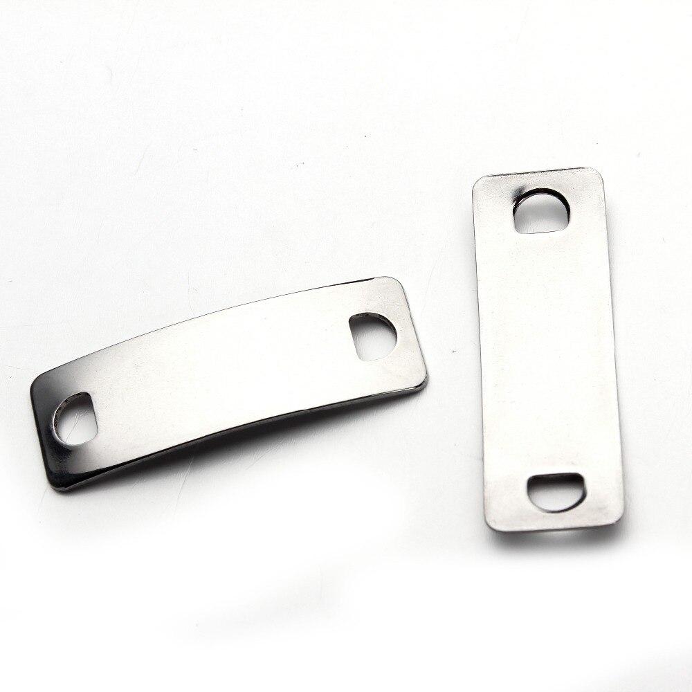 ᗖ10 unids/lote 14x41mm acero inoxidable en Blanco estampado ...