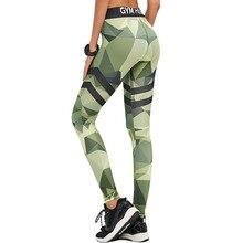 2017 Новая Коллекция Весна мода камуфляж печатные спортивные женские леггинсы сексуальная фитнес леди леггинсы досуг женщины спортивные леггинсы