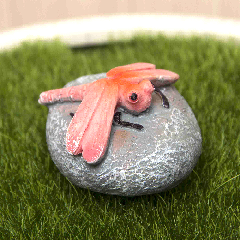 Miniature Dragonfly Decoration Ornament Potted Plant Craft Home ...